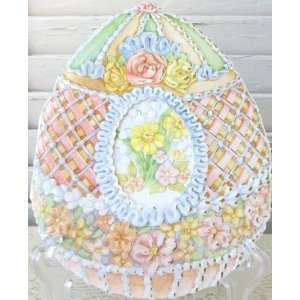 Carol Wilson Easter Greeting Card   Decorated Easter Egg
