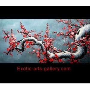 Chinese Flower Painting Cherry Blossom Tree Painting c0952