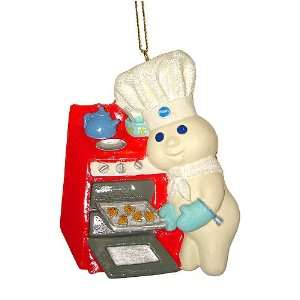 Pillsbury Doughboy Baking Cookies Christmas Ornament 3.25 #PI0031