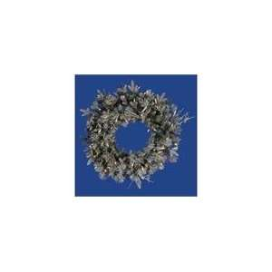 Frosted Wistler Fir Artificial Christmas Wreath   Cle