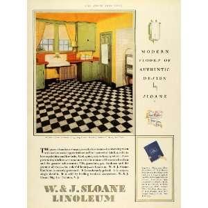 1929 Ad W J Sloane Linoleum Garden City Long Island Newton