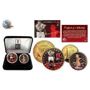 MUHAMMAD ALI 24K Gold U.S. Legal Tender 2 Coin Set