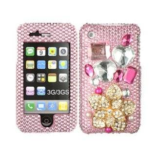 3D Bling Rhinestone Faceplate Diamond Crystal Hard Skin Case Cover
