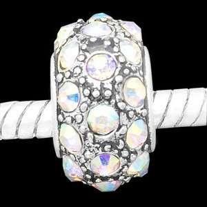 bead with Aurora Borealis crystal stones