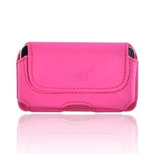 For iPod Touch 4 Horizontal Pouch Case HOT PINK