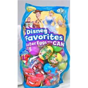Disney Favories 22 Easer Eggs Filled Wih Candy (Cars, oy Sory