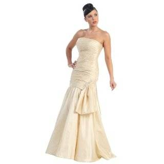 Strapless Elegant Gown Formal Prom Dress #2758 Clothing