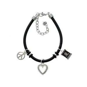 Friendship Black Peace Love Charm Bracelet [Jewelry] Jewelry