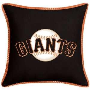 San Francisco Giants Sidelines Pillow in Black