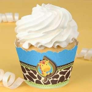Giraffe Boy   Birthday Party Cupcake Wrappers Toys