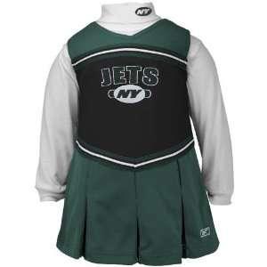 Reebok New York Jets Green Girls 2 Piece Cheerleader Dress