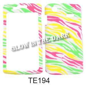 Glow in the Dark. Colorful Zebra Print Cell Phones