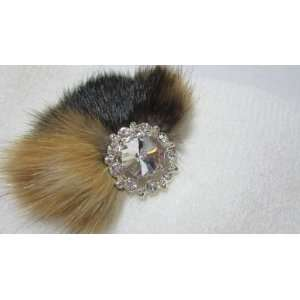 NEW White Knit Winter Ear Warmer Headband with Fur, Limited. Beauty