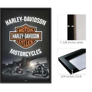 Framed Harley Davidson Motorcycles Logo Poster PP32303