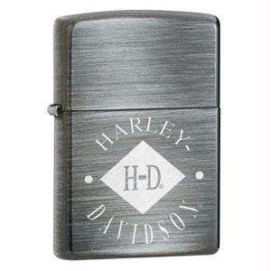 Zippo Lighter Harley Davidson Diamond, Silver Sunrise