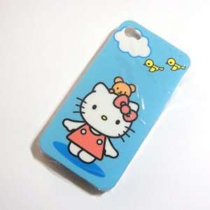Hello Kitty BLue Snap On Hard Case Cover for iphone 4 4G Cell