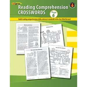 12 Pack EDUPRESS COMPREHENSION CROSSWORDS BOOK GR 6