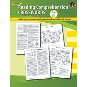 12 Pack EDUPRESS COMPREHENSION CROSSWORDS BOOK GR 6