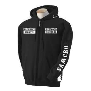 Fully Loaded 1* Samcro Sons of Anarchy Zipup Hooded Jacket   Size