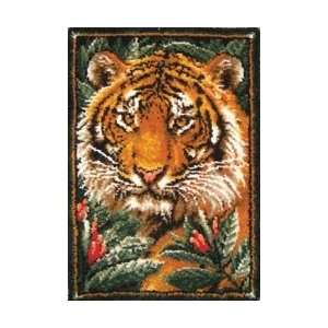 M C G Textiles Latch Hook Kit 27X40 Jungle Tiger: Arts