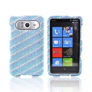 BLUE SILVER LINES Bling Hard Case Cover for HTC HD7 Electronics