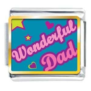 Dad Valentine Hearts Italian Charms Bracelet Link Pugster Jewelry
