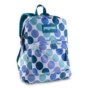 com JanSport Superbreak Blue Purple Polka Dots Spots School Backpack