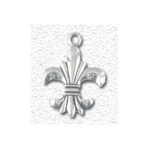 Solid Sterling Silver Fleur de lis Charm Jewelry