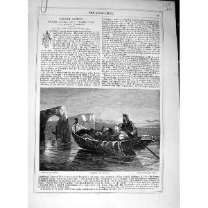 Journal 1869 Prospero Miranda Boat Little Girl Lady Home & Kitchen