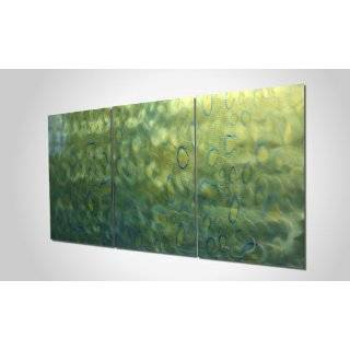 Design Metal Grind Pattern. Muted Pastel Green Colored Wall Art. Large