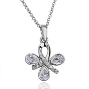 Swarovski Elements Four Leaf Clover Pendant 18k Gold Plated Necklace