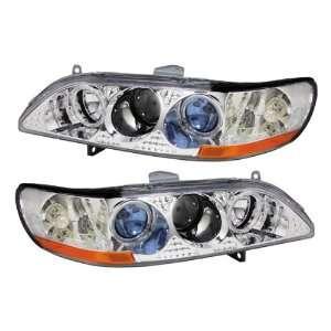 Honda Accord Chrome LED Halo Projector Headlights /w Amber Automotive