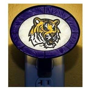 LSU TIGERS NCAA Tiffany Stained Glass NIGHTLIGHT Night Light: Sports