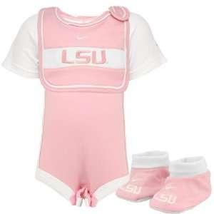 Nike LSU Tigers Pink Infant Girls Three Piece Gift Set