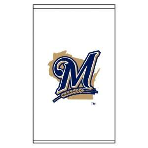Shades MLB Milwaukee Brewers Secondary Logo   Whi: Home & Kitchen