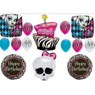 Monster High Zebra Cake Birthday Party Balloons Decorations Supplies