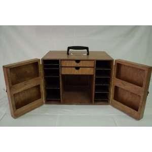 JC Enterprises   Drag Bottom Slot Car Box, Golden Oak