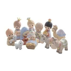 Precious Moments Set of 11 Mini Nativity Figurines:  Home