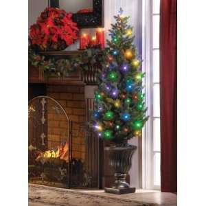 Pre lit LED Light Up Battery outdoor Christmas Tree 5Ft