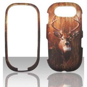 com Buck Deer Pantech Ease P2020 Hard Snap on Rubberized Touch Phone