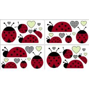 Ladybug Parade Baby and Kids Wall Decal Stickers   Set of