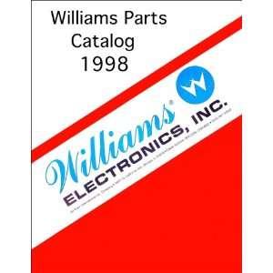 1998 Williams Pinball Machine Coin Op Game Parts Manual Catalog