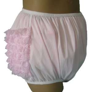 Pastel Colors Eyelet Lace Frilly Rhumba Adult Pullon Plastic Pants