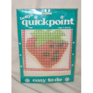 Bettys Quickpoint  Strawberry  Plastic Canvas Needle Point Kit