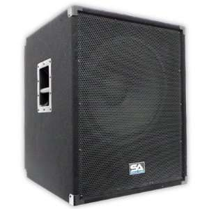 18   Powered PA 18 Subwoofer Speaker Cabinet Musical Instruments