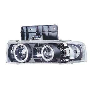 95 04 Chevy Astro Dual Halo Black Projector Headlights