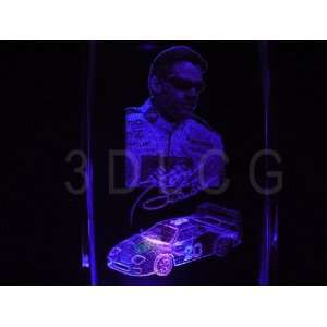 Nascar Tony Stewart 3D Laser Etched Crystal S8 FREE