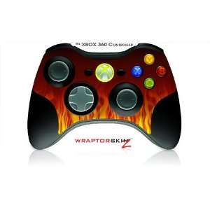 XBOX 360 Wireless Controller Skin   Fire on Black (Controller
