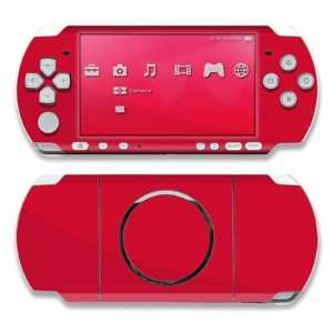 Red Design Decorative Protector Skin Decal Sticker for Sony PSP 3000