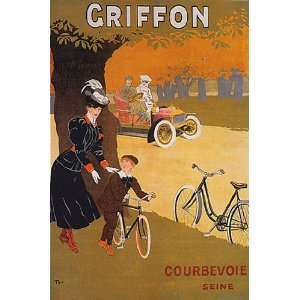 GRIFFON BICYCLE BIKE CYCLES COURBEVOIE MOTHER BOY SEINE FRENCH VINTAGE